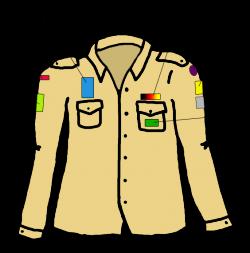 Kentekens op hemd